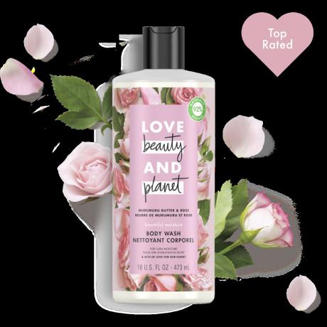 Love Beauty And Planet murumuru butter & rose body wash