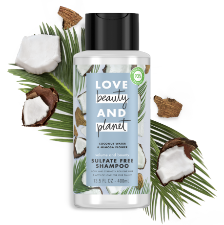 Love Beauty And Planet sulfate-free coconut water & mimosa flower shampoo