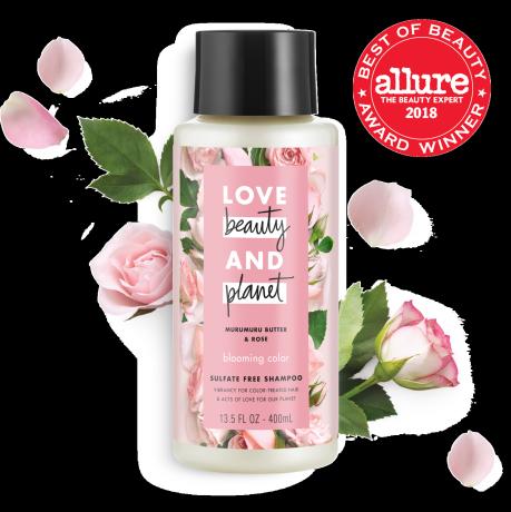 Love Beauty And Planet sulfate-free murumuru butter & rose shampoo