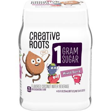 Creative Roots Mixed Berry Flavored Coconut Water Kids Beverage with other natural flavors, 8.5 fl. oz. Bottles, (Pack of 4)