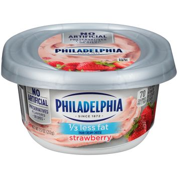 Philadelphia Reduced Fat Strawberry Cream Cheese, 7.5 oz Tub