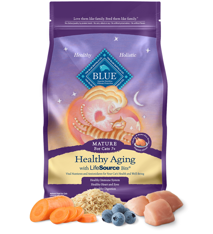 Blue™ Healthy Aging Dry Cat Food Chicken & Brown Rice