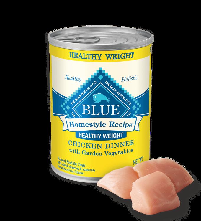 Blue Homestyle Recipe ™ Wet Dog Food (Healthy Weight) - Chicken & Garden Vegetables