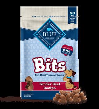 Blue Bits Dog Treats Tender Beef