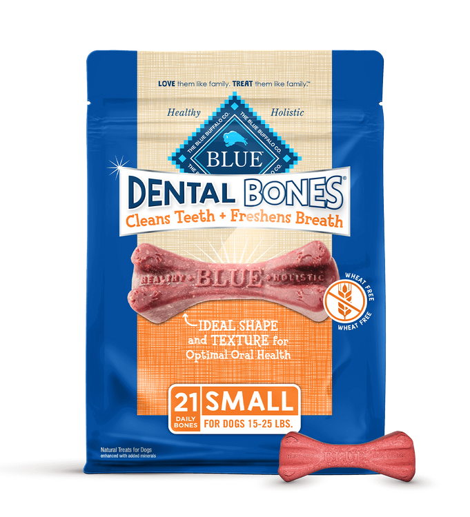 Blue Dental Bones Dog Treats Small Size Dental Chews