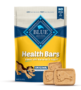 Blue Health Bars Dog Treats Baked With Banana And Yogurt