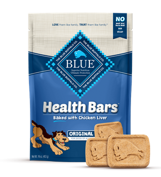 Blue Health Bars Dog Treats Baked With Chicken Liver