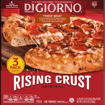DiGiorno Original Rising Crust Three Meat Frozen Pizza