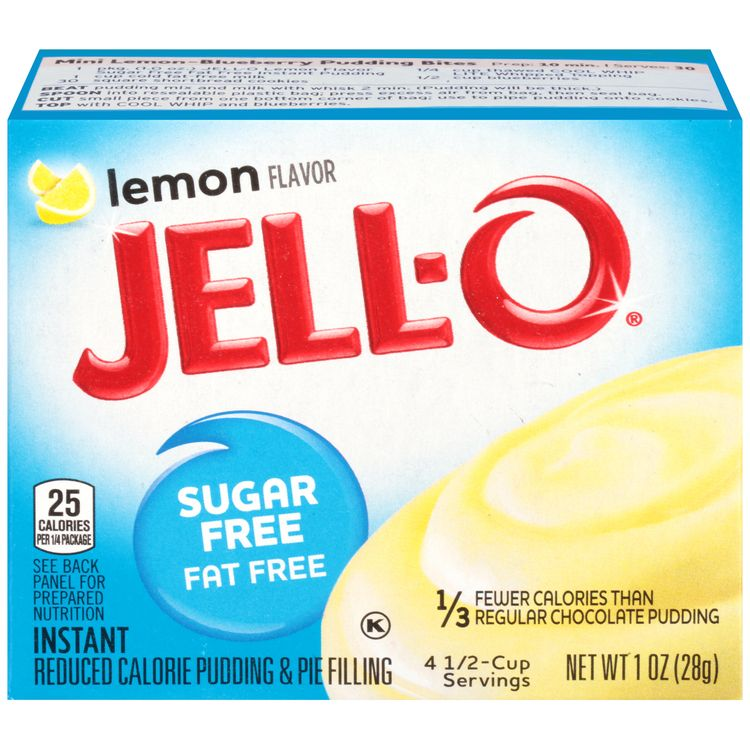 Jell-O Sugar Free Lemon Instant Pudding Mix, 1 oz Box