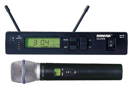 Shure ULXS24 UHF Wireless w/Beta87A Handheld J1
