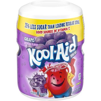 Kool-Aid Sweetened Grape Powdered Drink Mix, Caffeine Free, 19 oz Jar