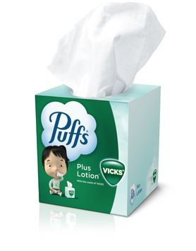 Puffs Plus Lotion with the Scent of Vicks®