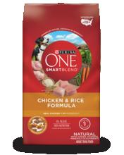 Purina ONE® SmartBlend® Chicken & Rice Formula Natural Adult Dog Food