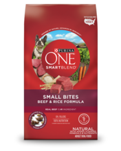 Purina ONE® SmartBlend® Small Bites Beef & Rice Formula Adult Premium Dog Food