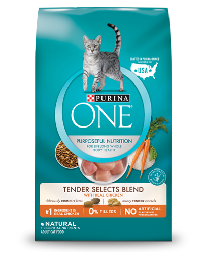 Purina ONE Natural Dry Cat Food, Tender Selects Blend With Real Chicken