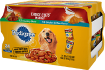 PEDIGREE® Can CHOICE CUTS™ IN GRAVY Country Stew, Chicken & Rice 24 ct
