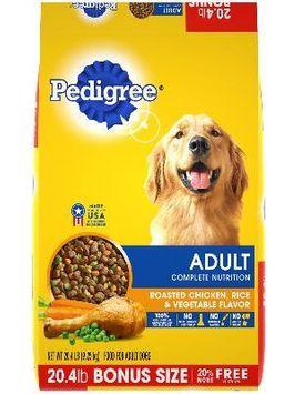 Pedigree® Dry Dog Food Adult Roasted Chicken, Rice & Vegetable Flavor