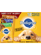 PEDIGREE® Wet Dog Food Choice Cuts 18ct Chicken Casserole in Gravy, Grilled Chicken Flavor in Sauce and Beef, Noodles and Vegetables Flavor in Sauce