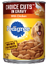 PEDIGREE® Wet Dog Food CHOICE CUTS® in Gravy with Chicken