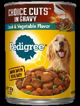 PEDIGREE® Wet Dog Food Choice Cuts in Gravy Steak & Vegetable Flavor