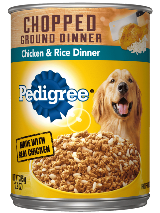 Pedigree® Wet Dog Food Chopped Ground Dinner with Chicken and Rice