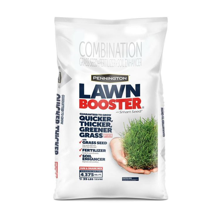 Pennington 35 lbs. Sun and Shade Lawn Booster with Smart Seed, Fertilizer and Soil Enhancers