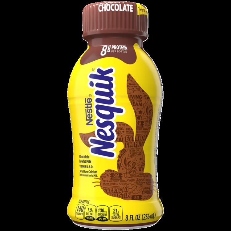 Nesquik Chocolate Lowfat Milk 8 fl.  Bottle