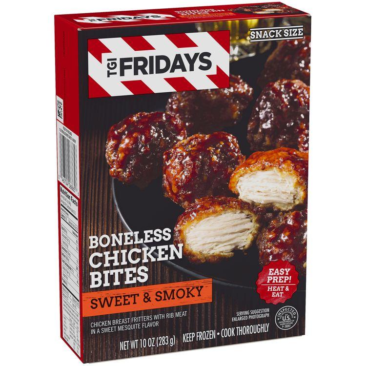 Tgif TGI Fridays Sweet & Smoky Boneless Chicken Bites, Frozen Appetizer, 10 oz Box
