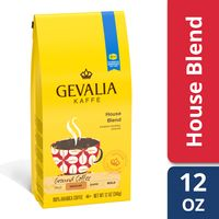 Gevalia House Blend Ground Coffee, Caffeinated, 12 oz Bag (Pack of 3)