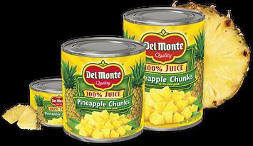 Delmonte Pineapple Chunks in 100% Juice