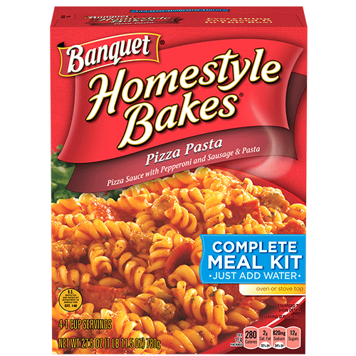 Banquet Pizza Pasta Homestyle Bakes