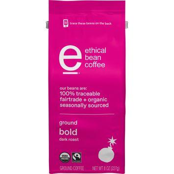 Ethical Bean Fairtrade Organic Coffee, Bold Dark Roast, Ground Coffee, 8 oz. Bag