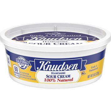 Knudsen Hampshire 100% Natural Sour Cream, 8 oz Tub