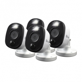 Refurbished 1080p Bullet Analogue CCTV camera w PIR Motion Sensor & Sensor Warning Light - 4 Pack