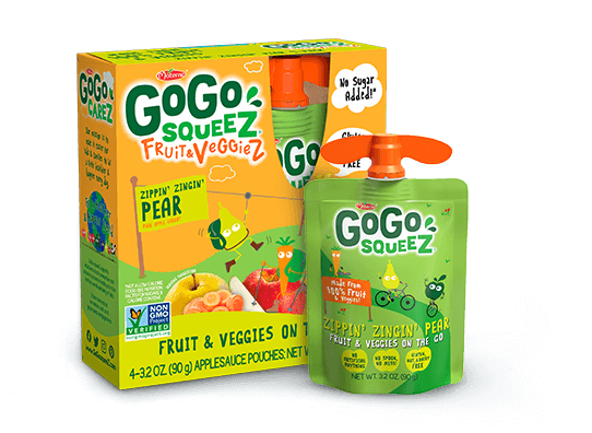 GOGO SQUEEZ F&V APPLE PEAR CARROT