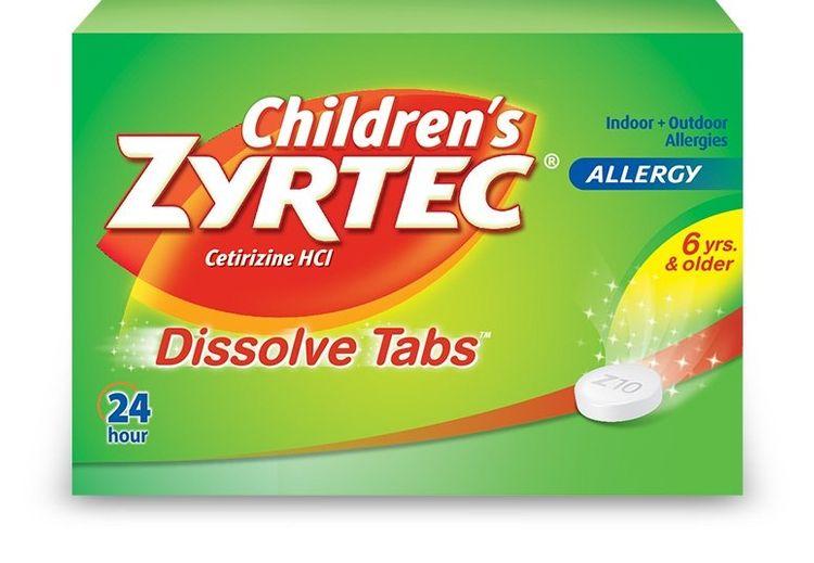 ZYRTEC® Children's Dissolve Tabs
