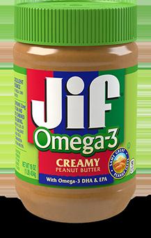 Jif ® Creamy Peanut Butter with Omega-3 DHA & EPA