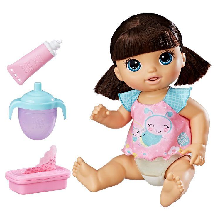 Hasbro Baby Alive Twinkles 'n Tinkles (Brunette), Multi-Color, C27010000
