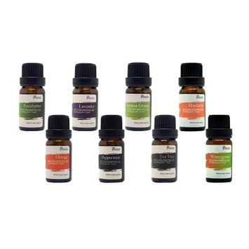 Pursonic Aromatherapy 100% Pure Therapeutic Grade 0.34-ounce Essential Oil Blends 8-piece Gift Set