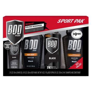 Parfums De Coeur BOD Man Men's Sport Pak Gift Set