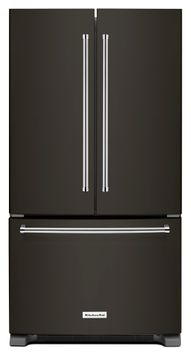Whirlpool Appliances Kitchenaid - 25 Cu. Ft. French Door Refrigerator - Black Stainless