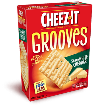 Cheez-It Grooves�� Sharp White Cheddar
