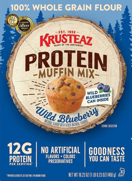 Krusteaz Protein Wild Blueberry Muffin