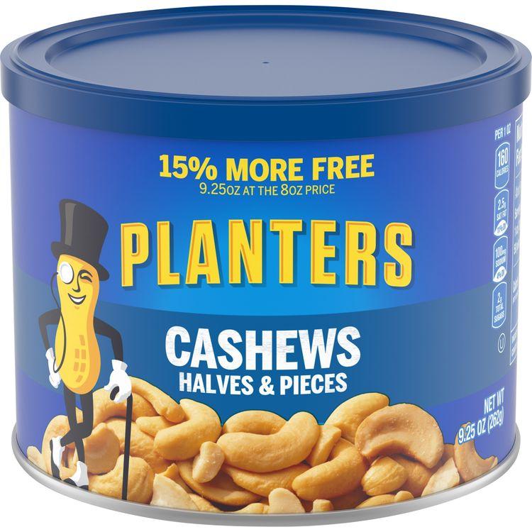 Planters Cashews Halves & Pieces, 9.25 oz Canister