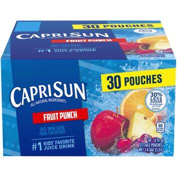 Capri Sun Fruit Punch Flavored Juice Drink Blend, 30 ct. Box