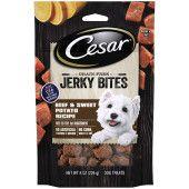 CESAR JERKY BITES Grain Free Chewy Small Dog Treats Beef & Sweet Potato Recipe, 8 oz. Pouch