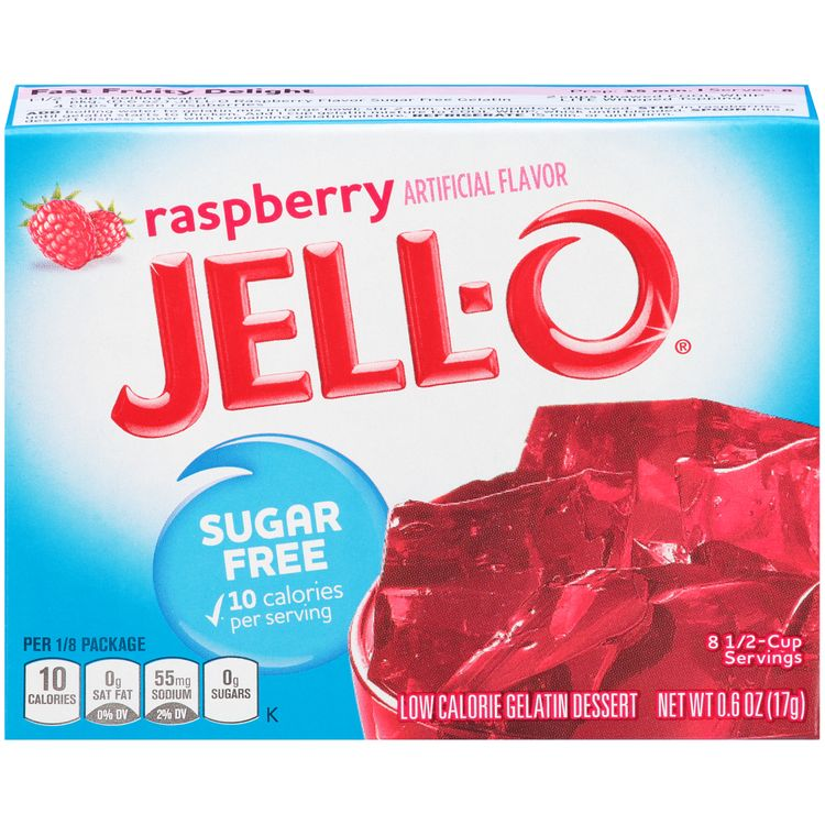 Jell-O Raspberry Sugar Free Gelatin Mix