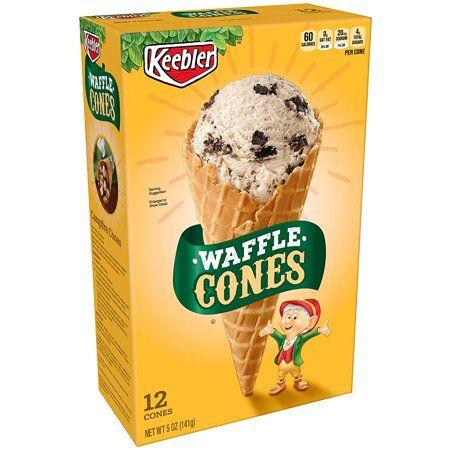 Keebler Ice Cream Cones, Waffle