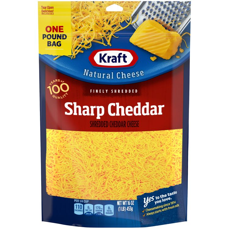 Kraft Sharp Cheddar Finely Shredded Cheese