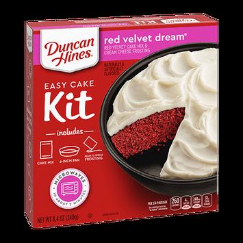 Duncan Hines Red Velvet Dream Easy Cake Kit